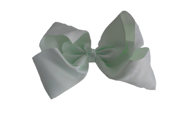 8 Inch Boutique Hair Bow - Light Mint Green - Dream Lily Designs