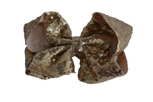 Sequin Boutique Bow 8 Inches - Rose Gold - Dream Lily Designs