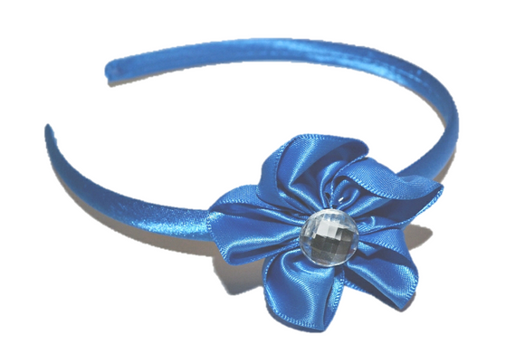 Blue Arch Flower Headband - Dream Lily Designs