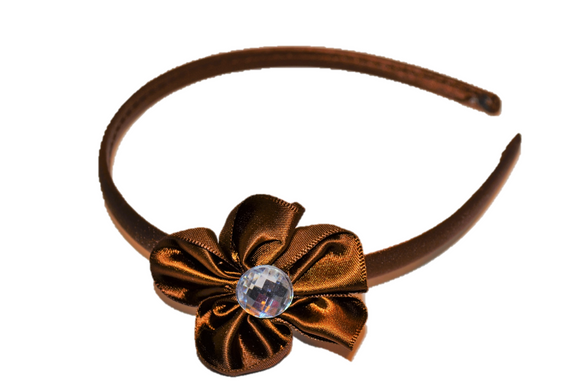 Brown Arch Flower Headband - Dream Lily Designs
