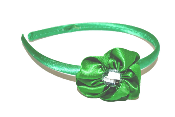 Green Arch Flower Headband - Dream Lily Designs