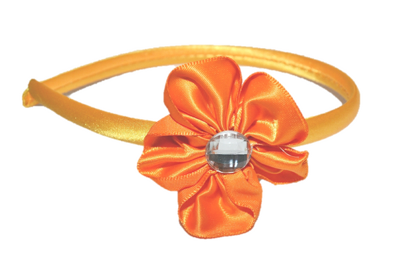 Orange Arch Flower Headband - Dream Lily Designs