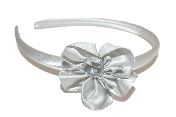 Silver Arch Flower Headband - Dream Lily Designs