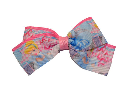 Cinderella 1.5 inch Princess Bow Cheer Bow Style (Disney)