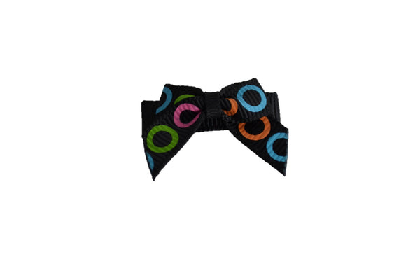 Black Colorful Circles Baby Snap Clip - Dream Lily Designs