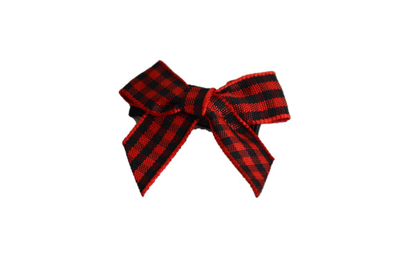 Red Black Plaid Baby Snap Clip - Dream Lily Designs