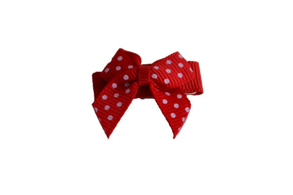 Red Pink Polka Dot Baby Snap Clip - Dream Lily Designs