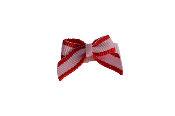 Red Pink Stripe Baby Snap Clip - Dream Lily Designs