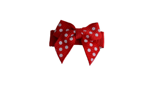 Red White Polka Dot Baby Snap Clip - Dream Lily Designs