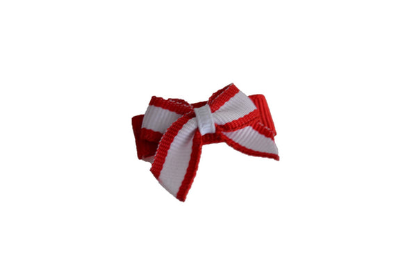 Red White Stripe Baby Snap Clip - Dream Lily Designs