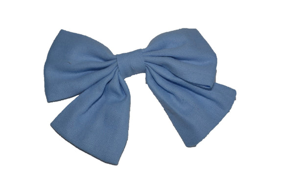 Periwinkle Blue Cotton Baby Hair Bow - Dream Lily Designs