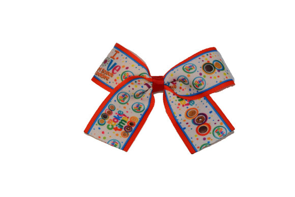 Girl Scout Cookie Time 1.5 inch Bow Cheer Bow Style (Girl Scouts) - Dream Lily Designs
