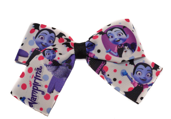 Vampirina 1.5 inch Bow Cheer Bow Style (Disney) - Dream Lily Designs