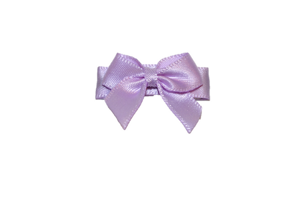 Light Purple Satin Baby Snap Clip
