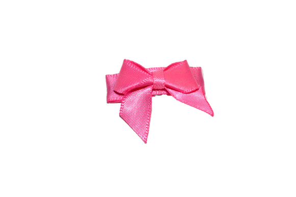 Pink Satin Baby Snap Clip - Dream Lily Designs