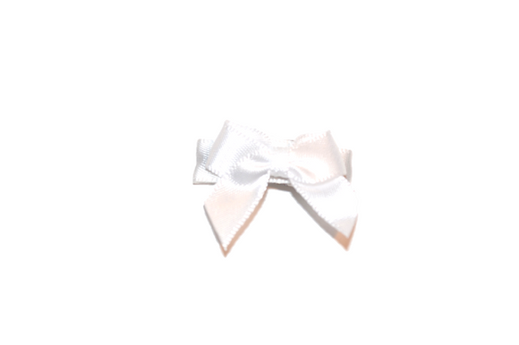 White Satin Baby Snap Clip - Dream Lily Designs