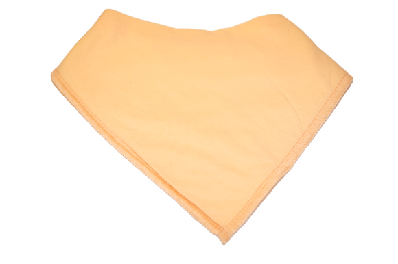 Light Orange Bandana Bib