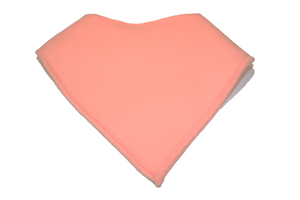 Light Coral Bandana Bib - Dream Lily Designs