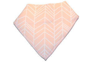 Light Pink Bandana Bib with White Aztec Stripes 1