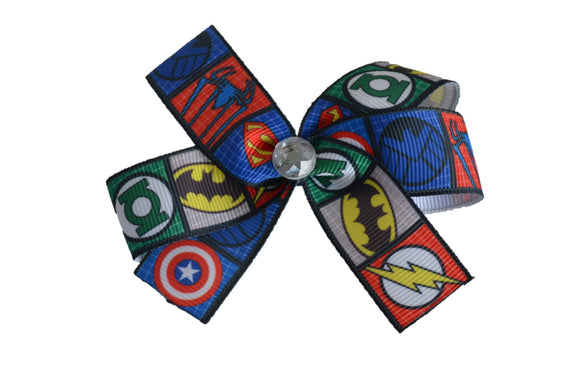 Batman, Green Lantern, Captain America Super hero bow (Superhero) - Dream Lily Designs