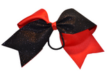 Red and Black Sparkle Cheer Bow - Dream Lily Designs