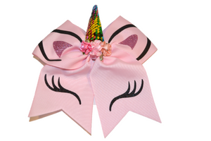 Pink Large Unicorn Bow - Dream Lily Designs