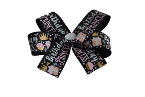 1 Inch Happy Birthday Princess Bow (Misc Patterns) - Dream Lily Designs