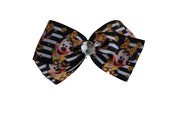 Black White Gold Minnie Bow (Minnie) - Dream Lily Designs