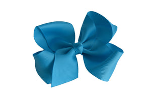 4 Inch Boutique Hair Bow Bright Blue - Dream Lily Designs
