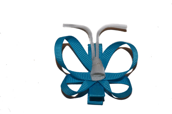 Animal and Bug Ribbon Sculpture Hair Clip - Bright Blue Butterfly - Dream Lily Designs