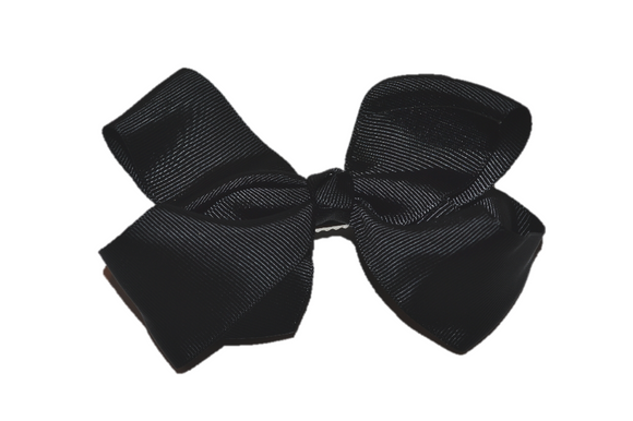 Black 4 Inch Boutique Hair Bow - Dream Lily Designs