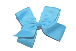 "Bright Blue 4"" Boutique Hair Bow"