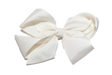 Ivory 4 Inch Boutique Hair Bow - Dream Lily Designs