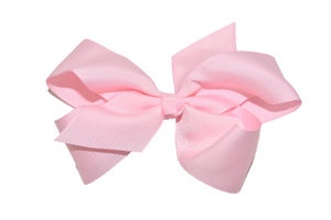 Light Pink 4 Inch Boutique Hair Bow - Dream Lily Designs
