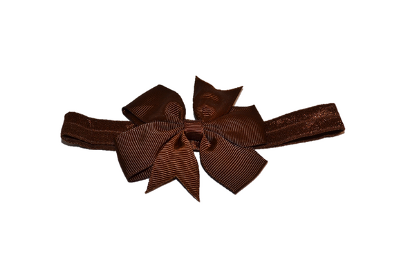 Brown Pinwheel Bow Headband