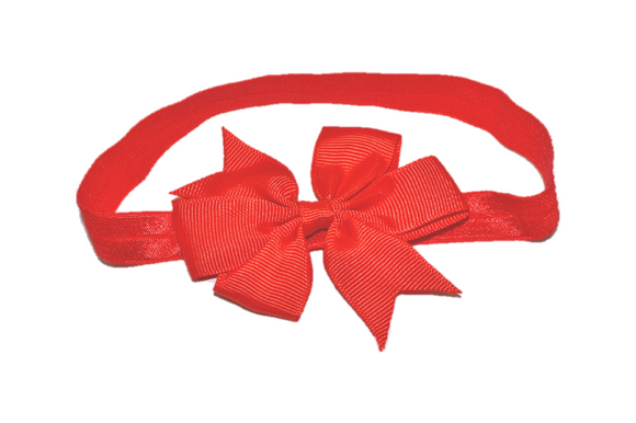 Red Pinwheel Bow Headband