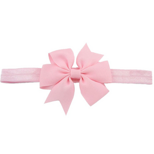 Light Pink Pinwheel Bow Headband - Dream Lily Designs