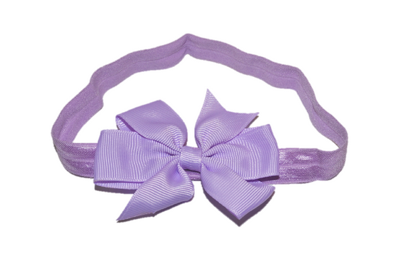 Light Purple Pinwheel Bow Headband