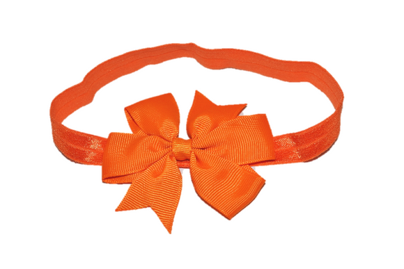 Orange Pinwheel Bow Headband