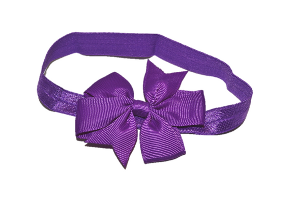 Purple Pinwheel Bow Headband - Dream Lily Designs