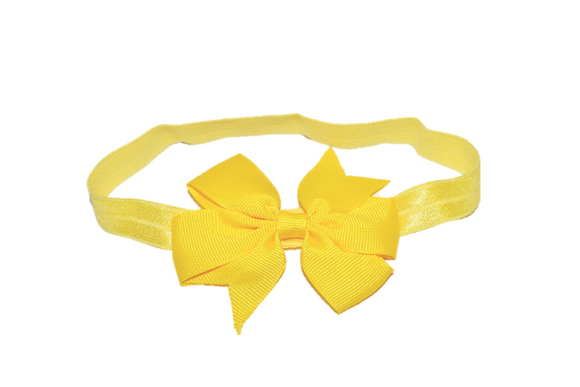 Yellow Pinwheel Bow Headband