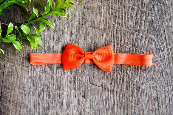 Dark Orange Bowtie Headband - Dream Lily Designs