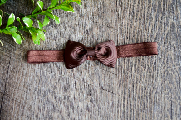 Brown Bowtie Headband - Dream Lily Designs