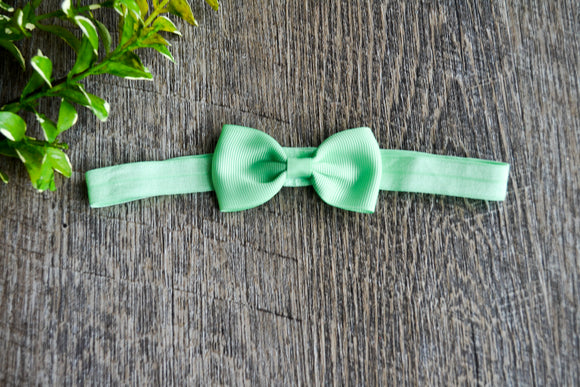 Mint Green Bowtie Headband - Dream Lily Designs
