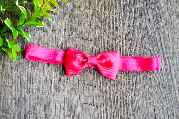 Dark Hot Pink Bowtie Headband - Dream Lily Designs