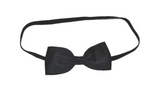 Black Skinny Bowtie Headband - Dream Lily Designs