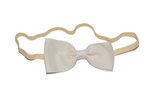 Cream Skinny Bowtie Headband - Dream Lily Designs