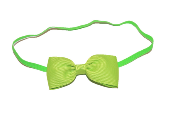 Light Green Skinny Bowtie Headband - Dream Lily Designs