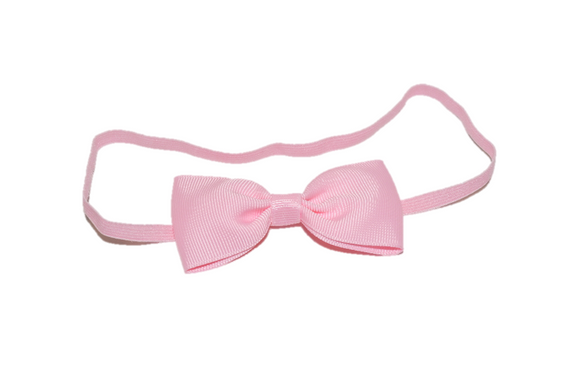 Light Pink Skinny Bowtie Headband - Dream Lily Designs
