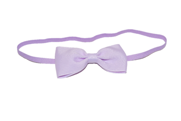 Light Purple Skinny Bowtie Headband - Dream Lily Designs